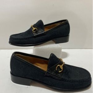 BLACK TEXTILE LOAFERS | Gucci